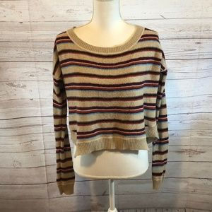 Free People Beach cropped striped sweater